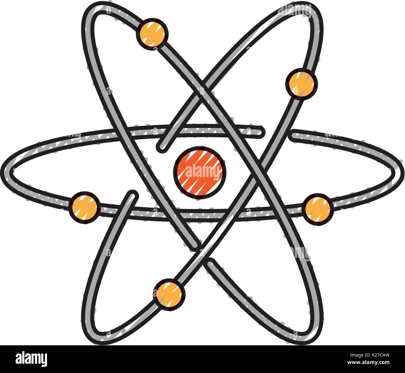 atom molecule isolated icon Stock Vector