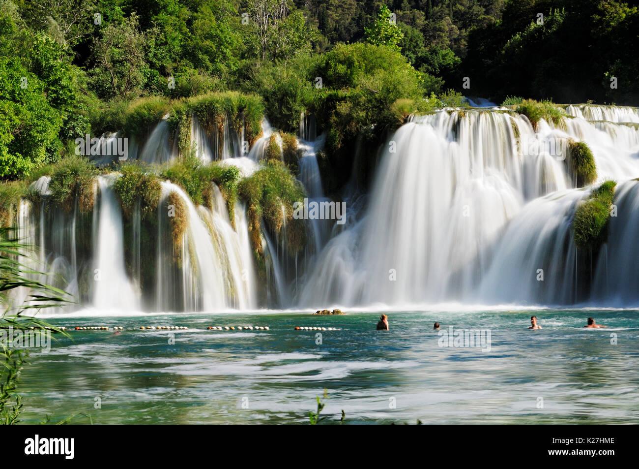 Majestic waterfalls in Krka National Park, Croatia Stock Photo