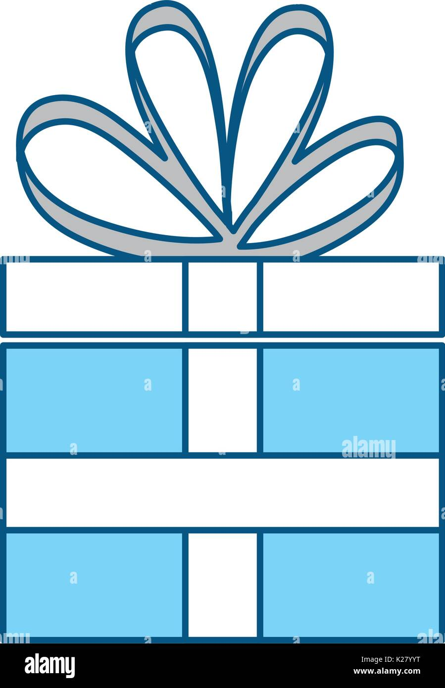 Gift Box Sign Icon Blue Stock Photos Gift Box Sign Icon Blue Stock