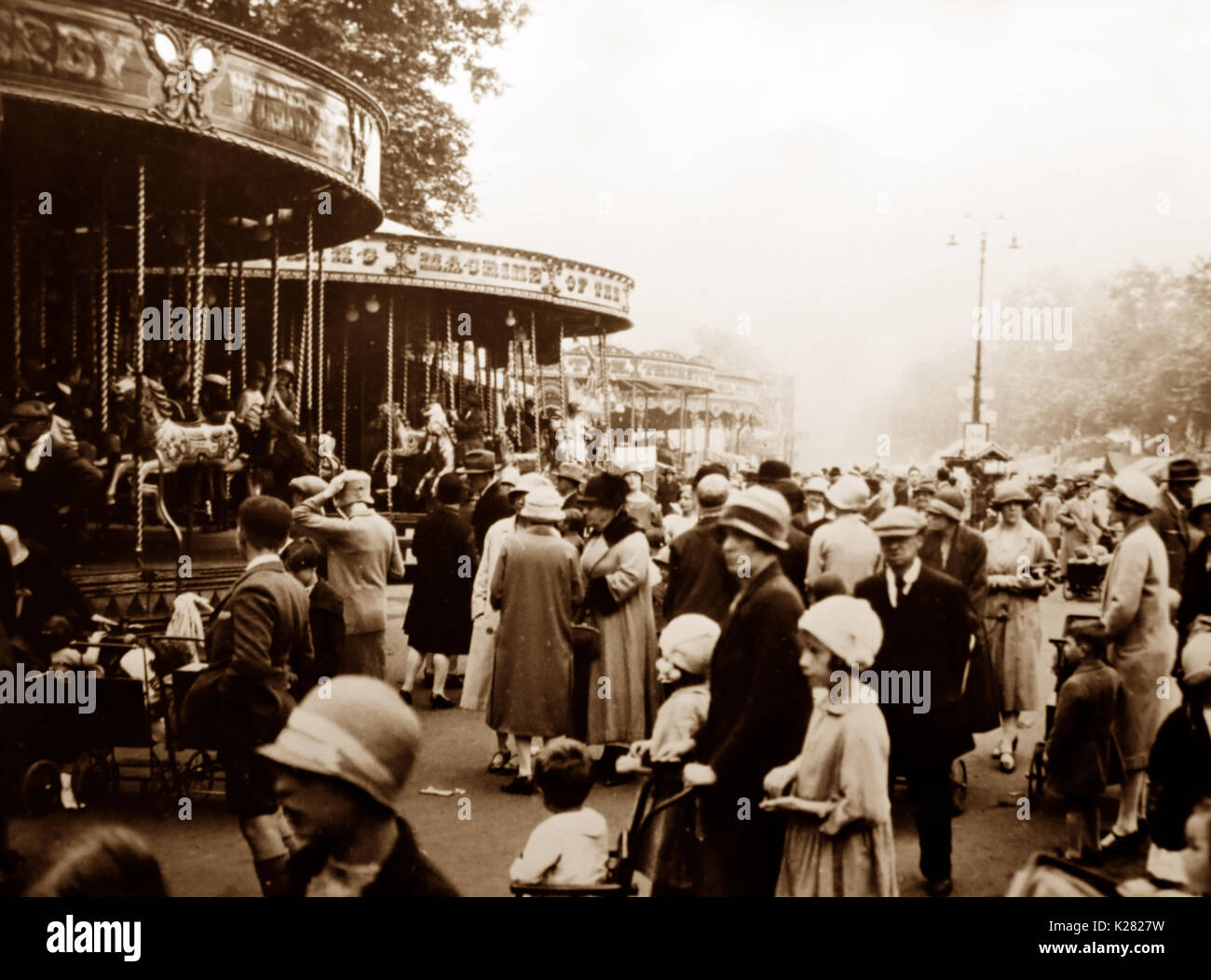 St. Giles' Fair, Oxford in 1924 - Stock Image