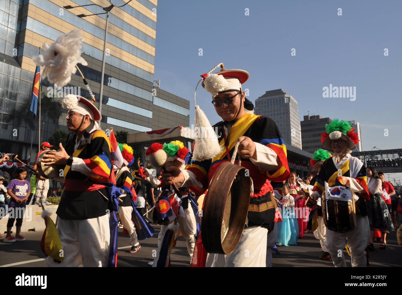 ASEAN Parade in Jakarta Indonesia - Stock Image