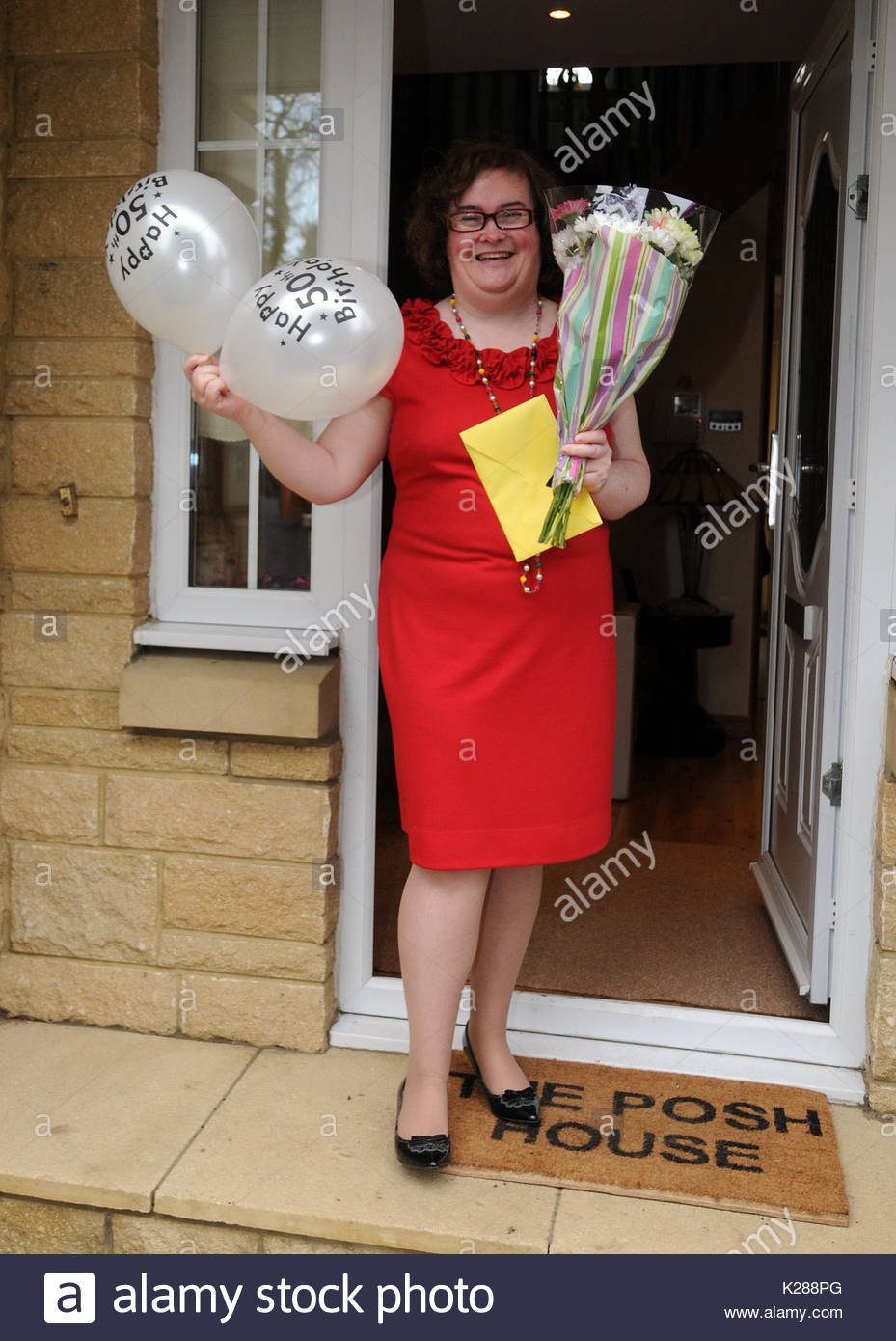 Susan Boyle Susan Boyle Glams Up For Her 50th Birthday As She Shows