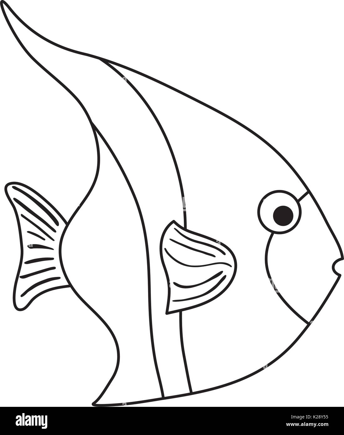 Cute fish cartoon stock image