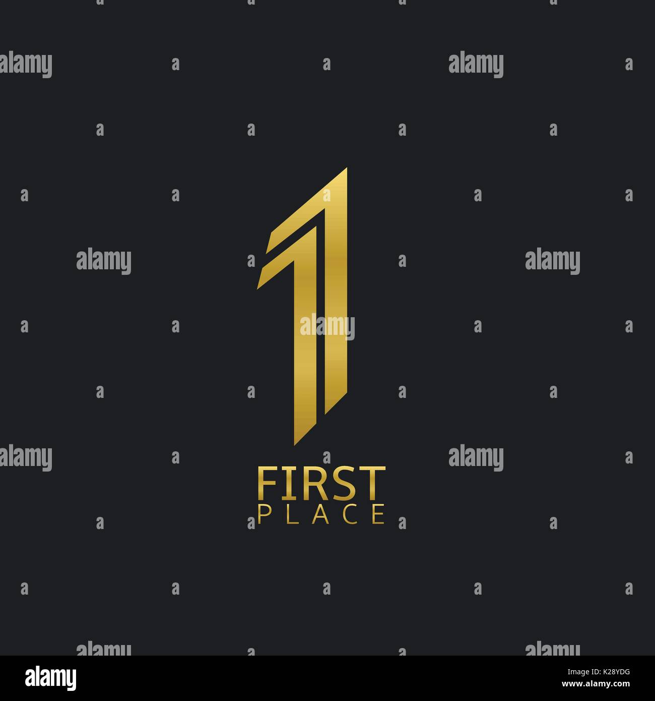 First place sign - Stock Vector
