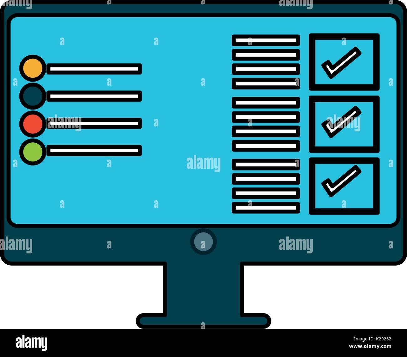 Screen computer hardware - Stock Image