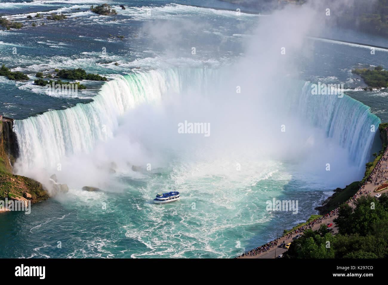 Niagara Falls, aerial view, Canada - Stock Image