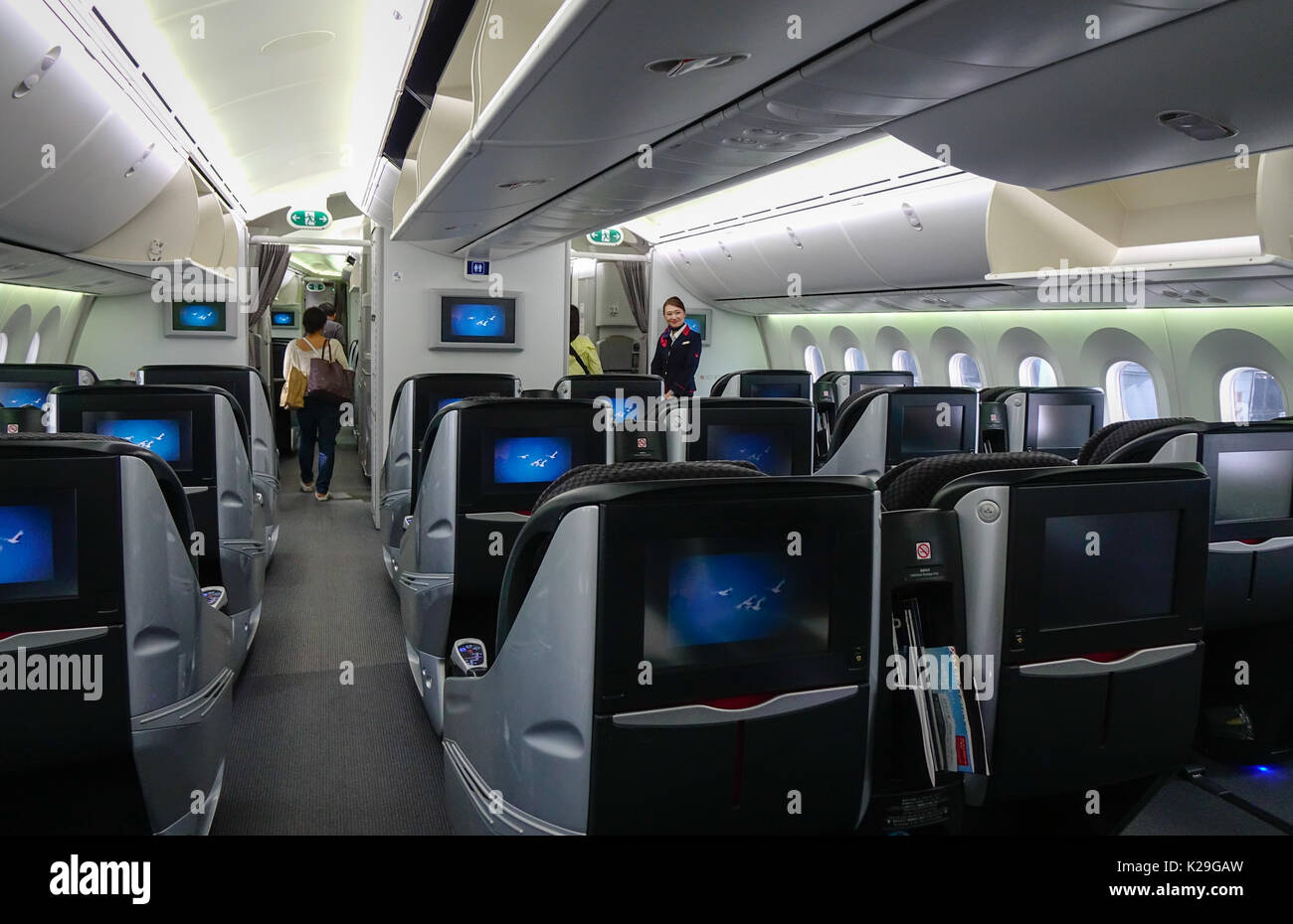 japan airlines boeing 787 dreamliner first class