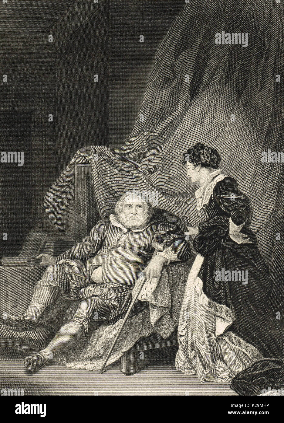 Henry VIII seated with Catherine Parr - Stock Image