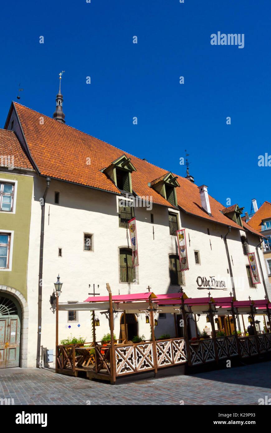 Olde Hansa, restaurant, Vanalinn, old town, Tallinn, Estonia - Stock Image