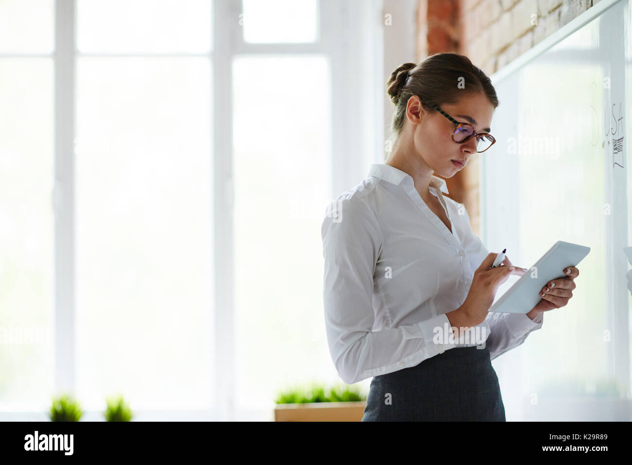 Prepare for lesson - Stock Image