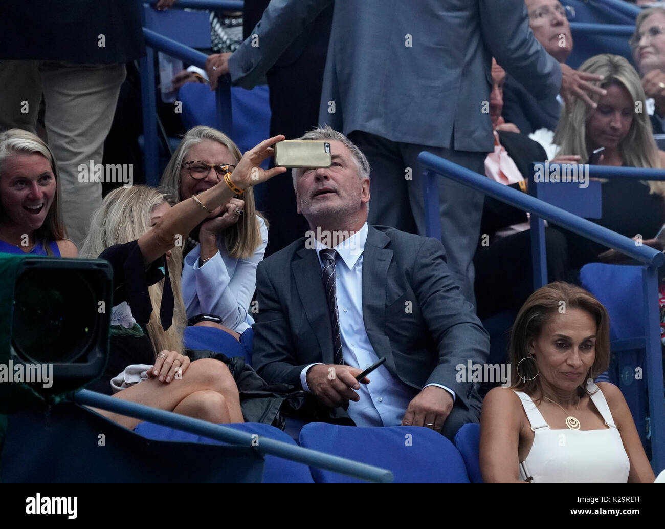 New York, United States. 28th Aug, 2017. Alec Baldwin attends US Open Championships day 1 at Billie Jean King Tennis center Credit: Lev Radin/Pacific Press/Alamy Live News - Stock Image