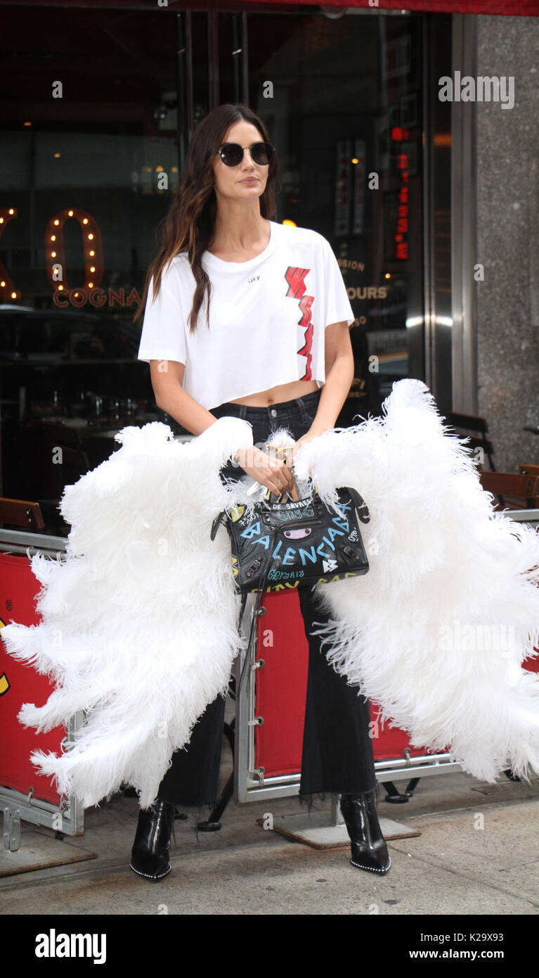 Lily Aldridge at Victoria's Secret Fitting at Victoria's Secret Office in New York August 29 2017.Credit:RW/MediaPunch - Stock Image