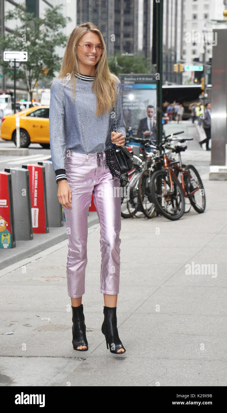 Romee Strijd at Victoria's Secret Fitting at Victoria's Secret Office in New York August 29 2017.Credit:RW/MediaPunch - Stock Image