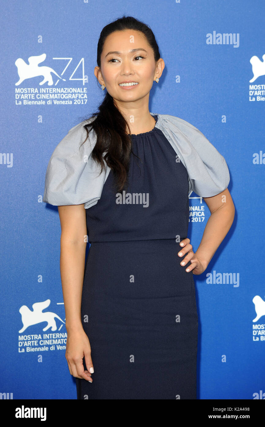Venice, Italy. 30th Aug, 2017. 74th Venice Film Festival, Photocall film 'Downsizing' Pictured: Hong Chau Credit: Independent Photo Agency Srl/Alamy Live News - Stock Image