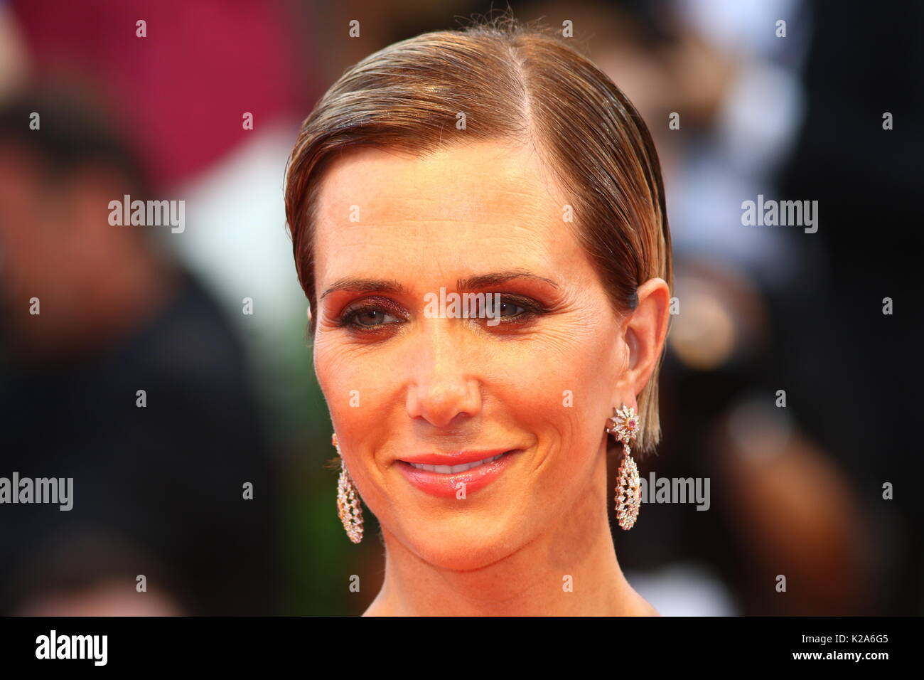 Venice, Italy. 30th Aug, 2017. Kristen Wiig attends the Downsizing Premiere during the 74th Venice International Film Festival at Lido of Venice on 30th August, 2017. Credit: Andrea Spinelli/Alamy Live News - Stock Image