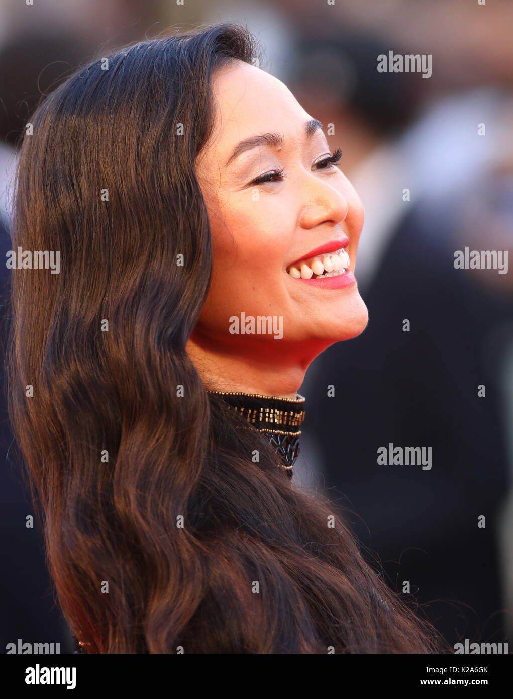 Venice, Italy. 30th Aug, 2017. Hong Chau attends the Downsizing Premiere during the 74th Venice International Film Festival at Lido of Venice on 30th August, 2017. Credit: Andrea Spinelli/Alamy Live News - Stock Image