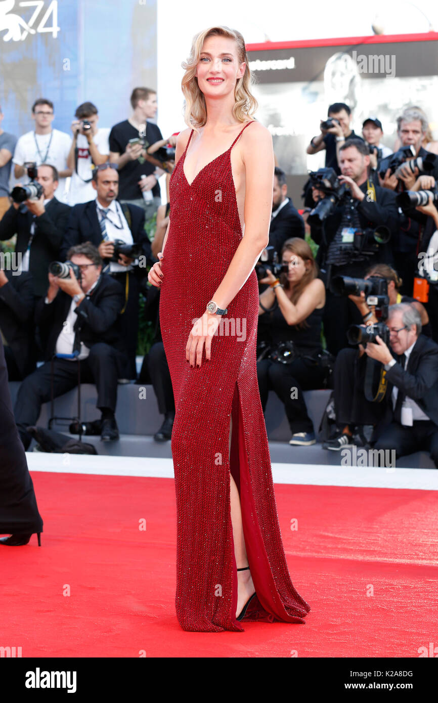 Venice, Italy. 30th Aug, 2017. Eva Riccobono arrives at the 'Downsizing' premiere and Opening of the 74th Venice Film Festival at the Palazzo del Cinema on August 30, 2017 in Venice, Italy. ( Credit: John Rasimus)/Media Punch ***France, Sweden, Norway, Denark, Finland, Usa, Czech Republic, South America Only***/Alamy Live News - Stock Image