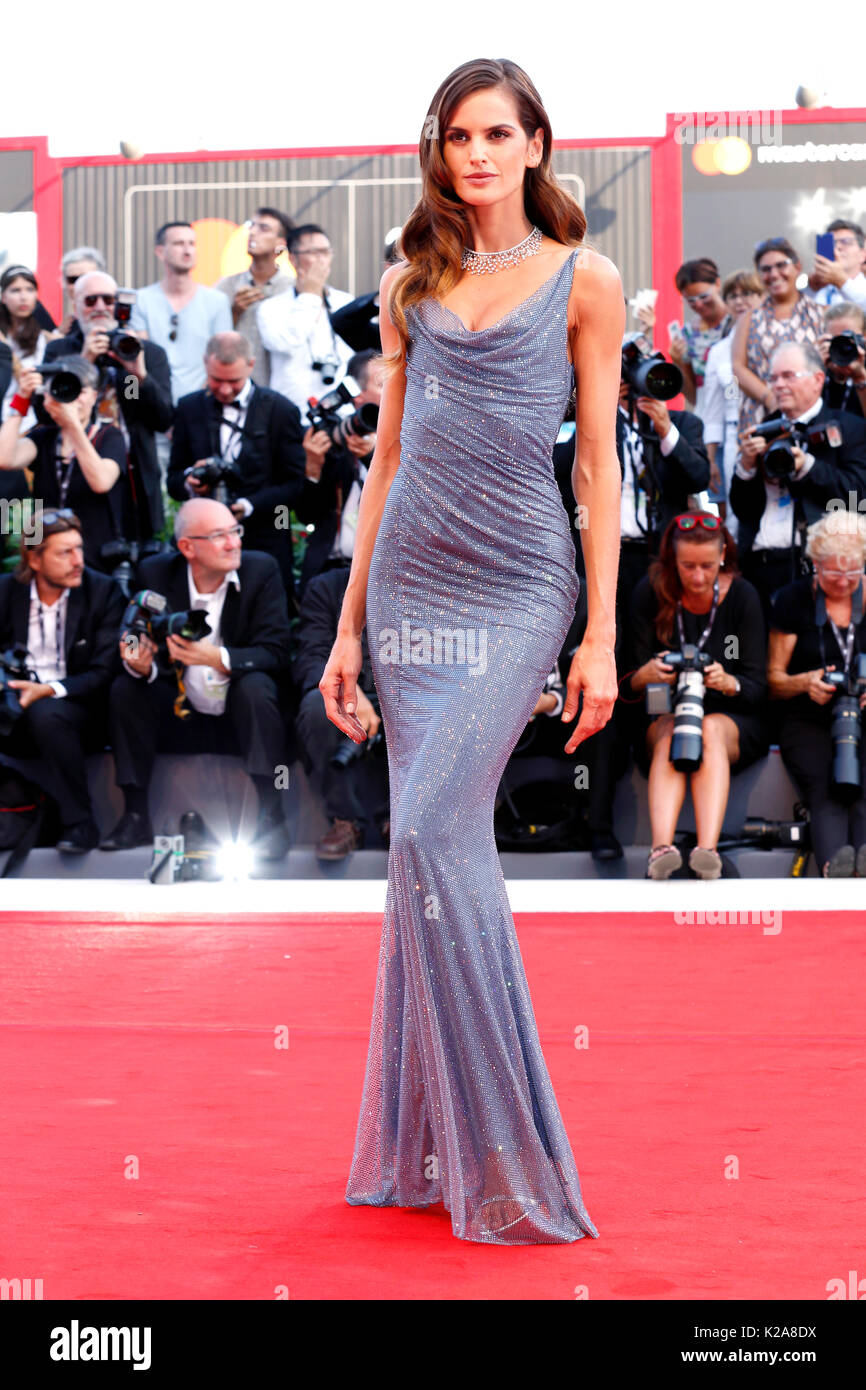Venice, Italy. 30th Aug, 2017. Izabel Goulart arrives at the 'Downsizing' premiere and Opening of the 74th Venice Film Festival at the Palazzo del Cinema on August 30, 2017 in Venice, Italy. ( Credit: John Rasimus)/Media Punch ***France, Sweden, Norway, Denark, Finland, Usa, Czech Republic, South America Only***/Alamy Live News - Stock Image