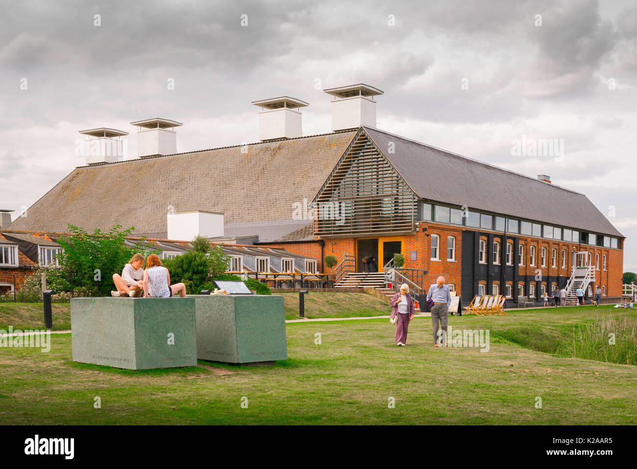 Snape Suffolk Maltings, The Maltings concert hall in Snape, Suffolk, East Anglia, UK. - Stock Image