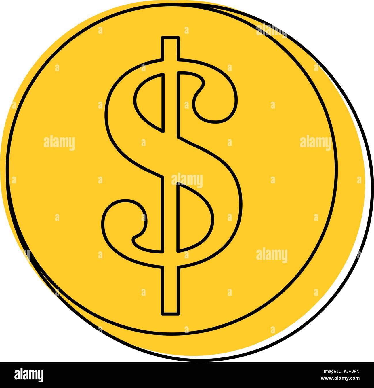 money coin icon - Stock Image