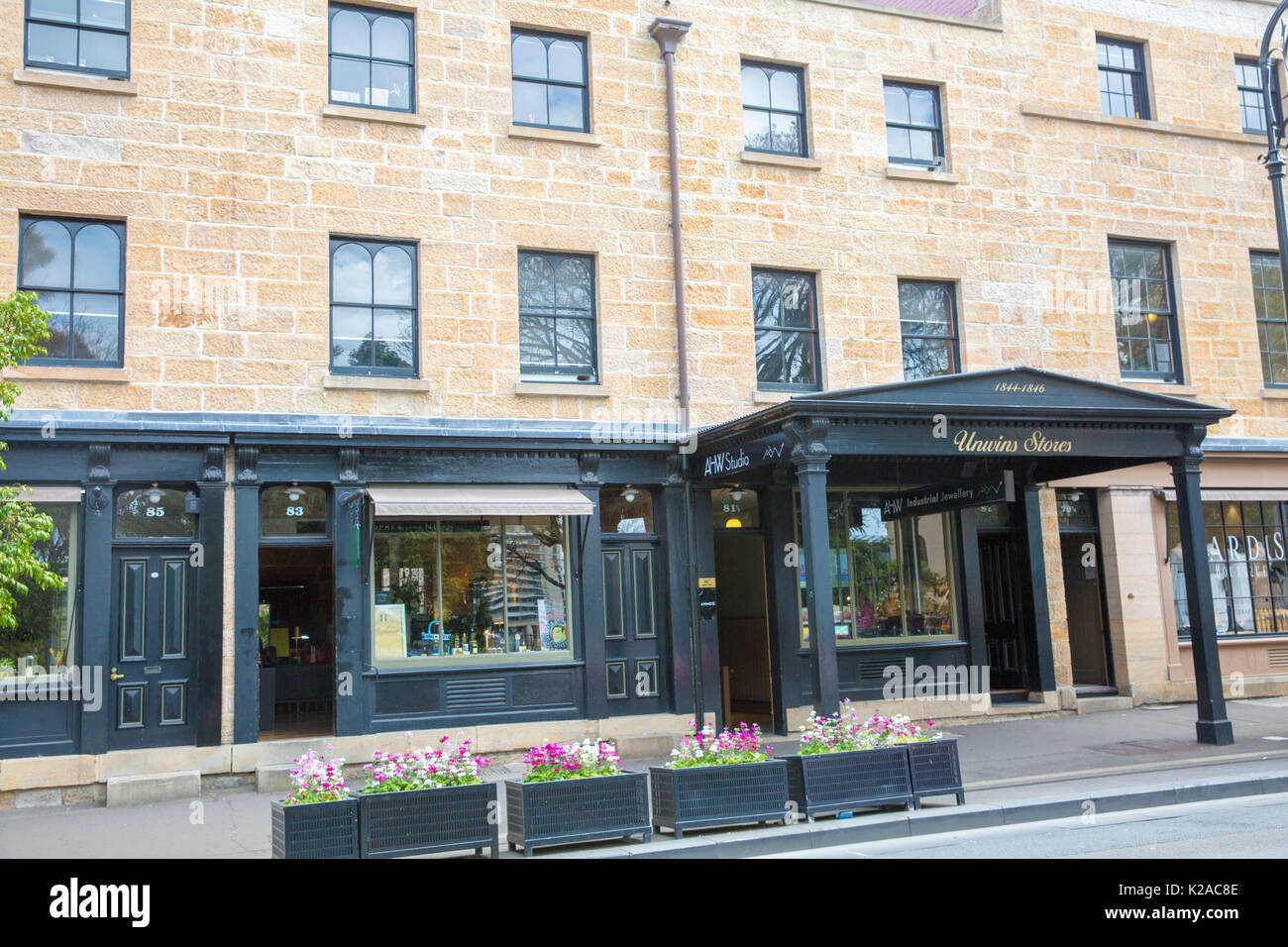 The historical Rocks area of Sydney in the city centre where white settlement began,Sydney,Australia - Stock Image
