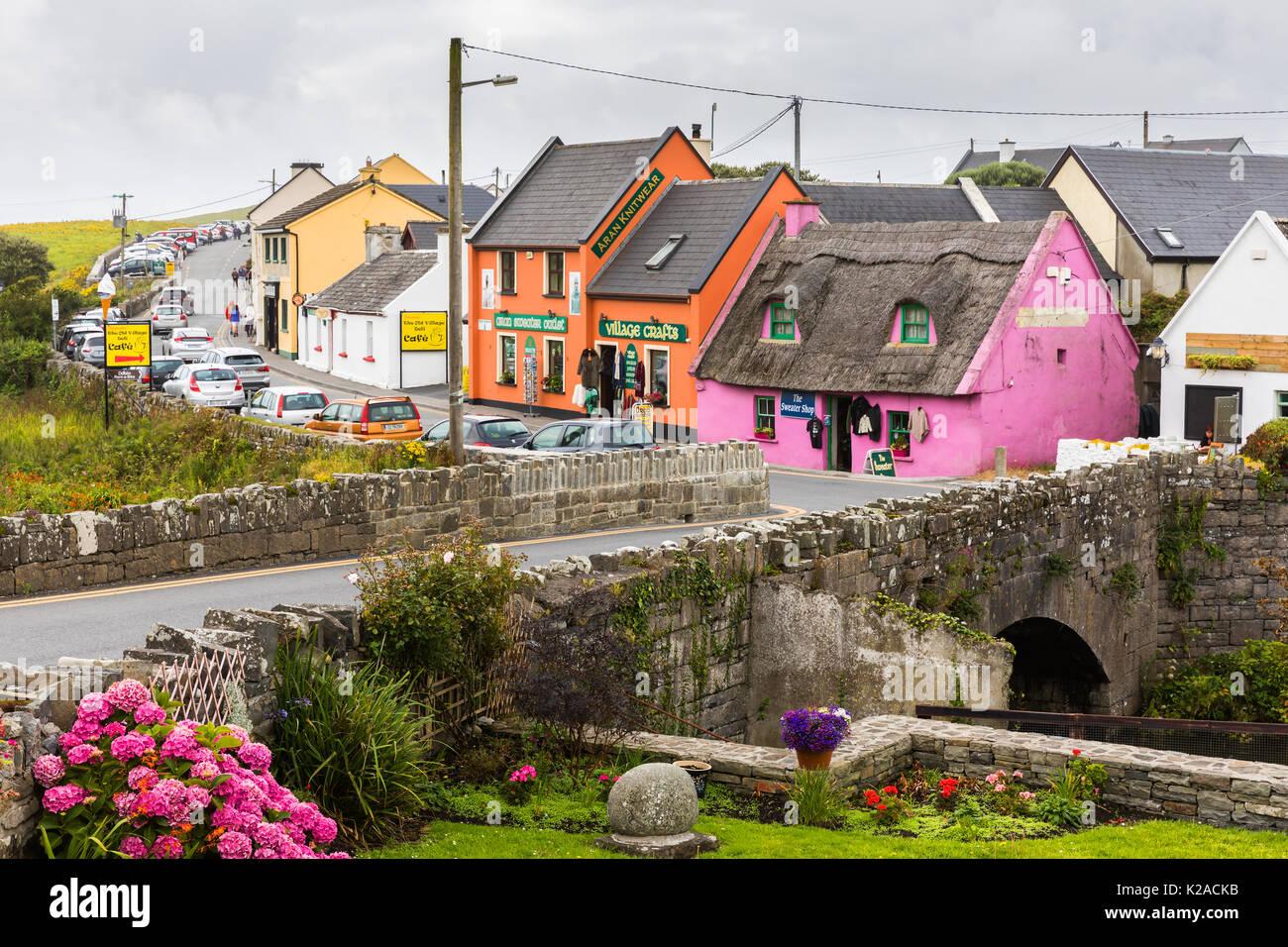 The colourful coastal village of Doolin in County Clare, Ireland Stock Photo: 156352095 - Alamy