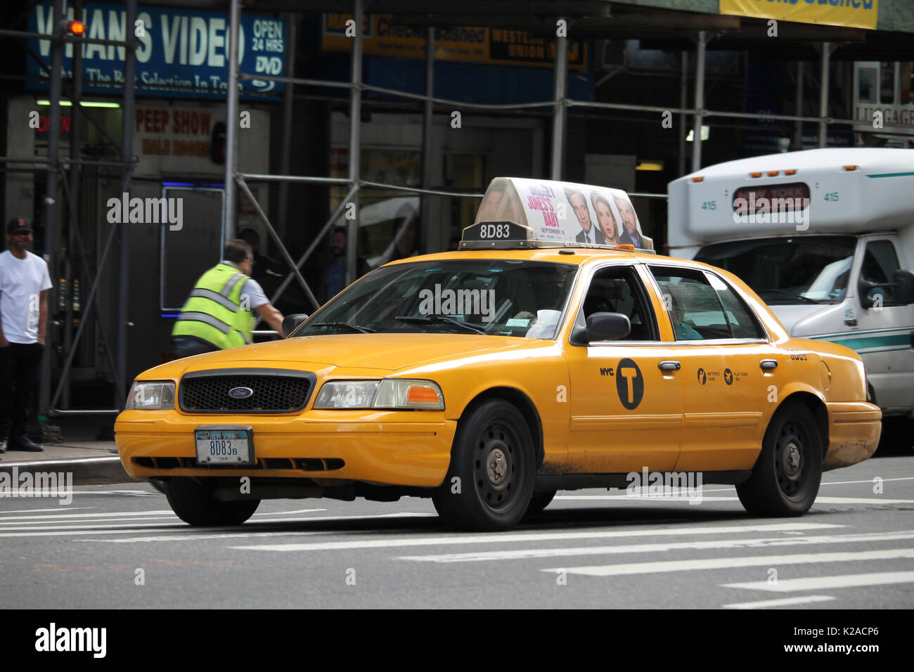 Ford Taxi Stock Photos Images Alamy 1949 Crown Victoria New York City Cab In Midtown Manhattan Image