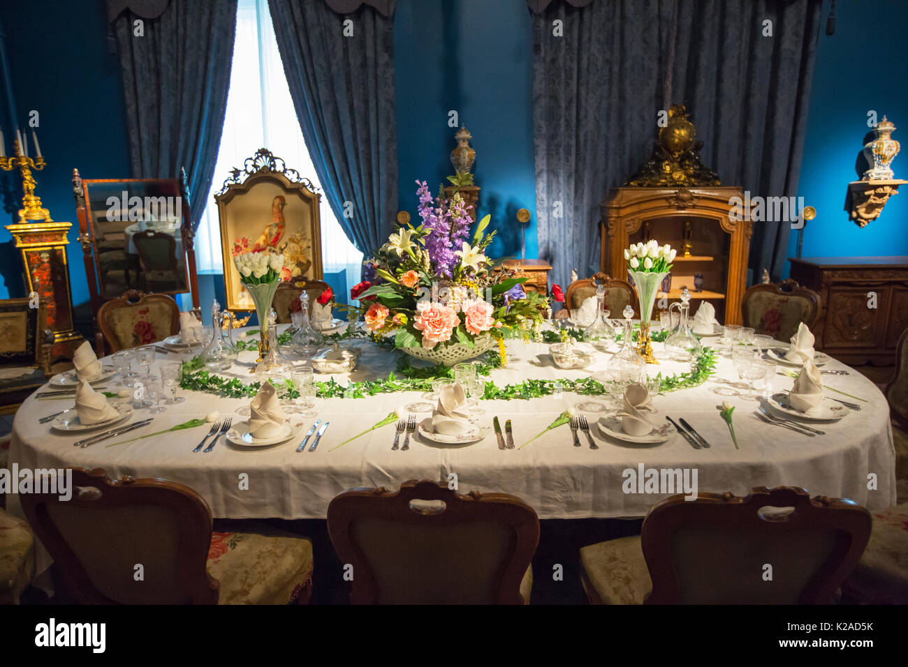 Victorian Dining Table Setting Stock Photos Amp Victorian