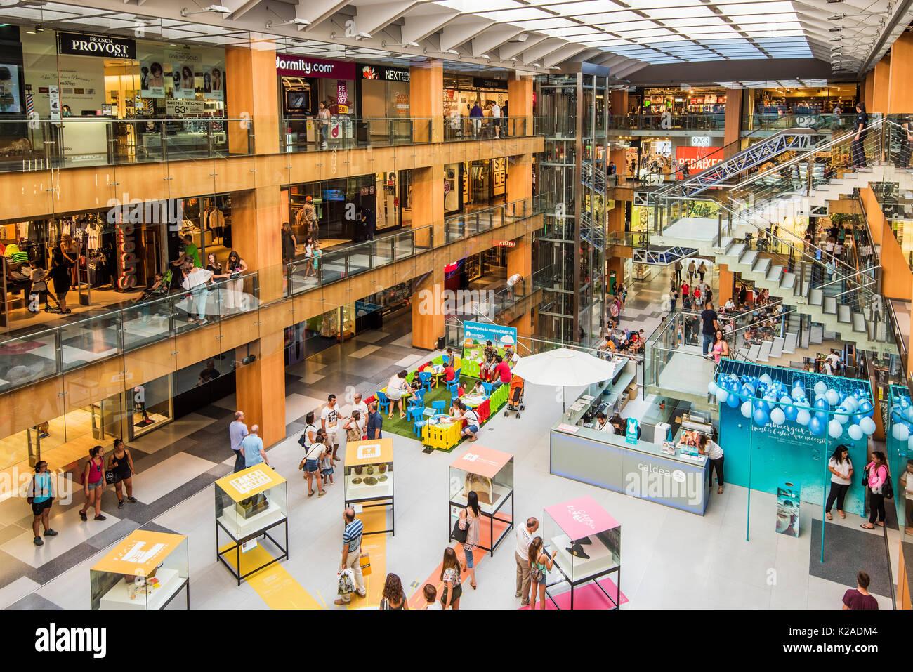 Illa Carlemany shopping mall, Andorra La Vella, Andorra - Stock Image