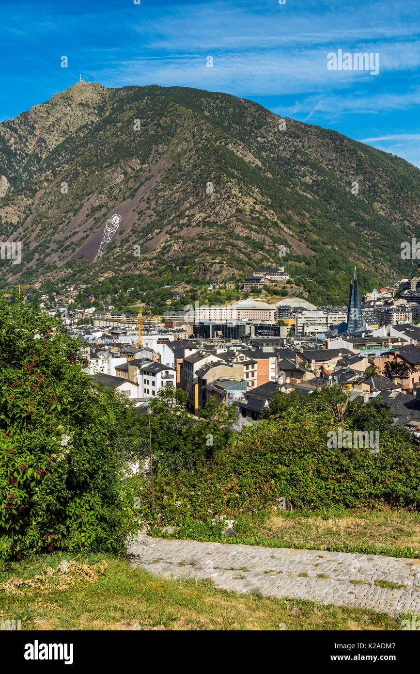 City skyline, Andorra La Vella, Andorra Stock Photo