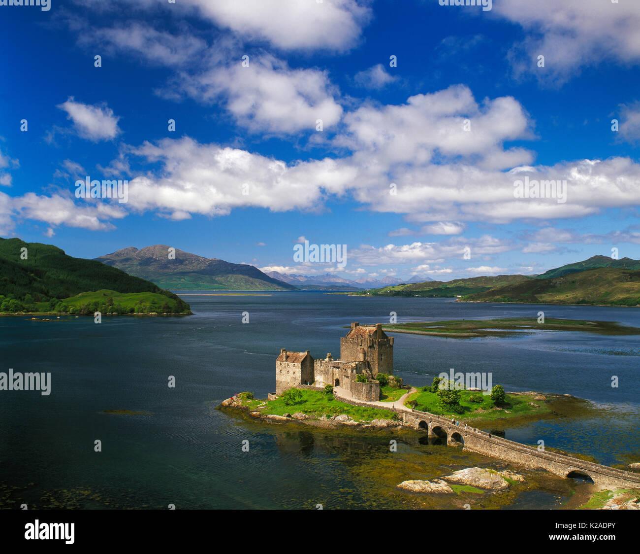 Eilean Donan Castle, Loch Duich , Kyle of Lochalsh, Scotland, UK - Stock Image