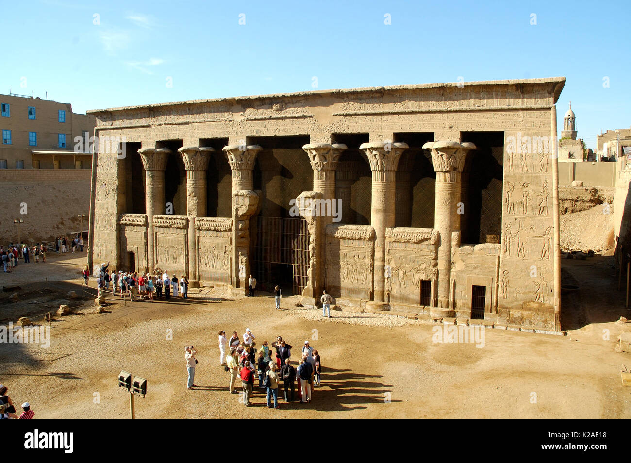The Temple of Khnum at Esna. Egypt - Stock Image