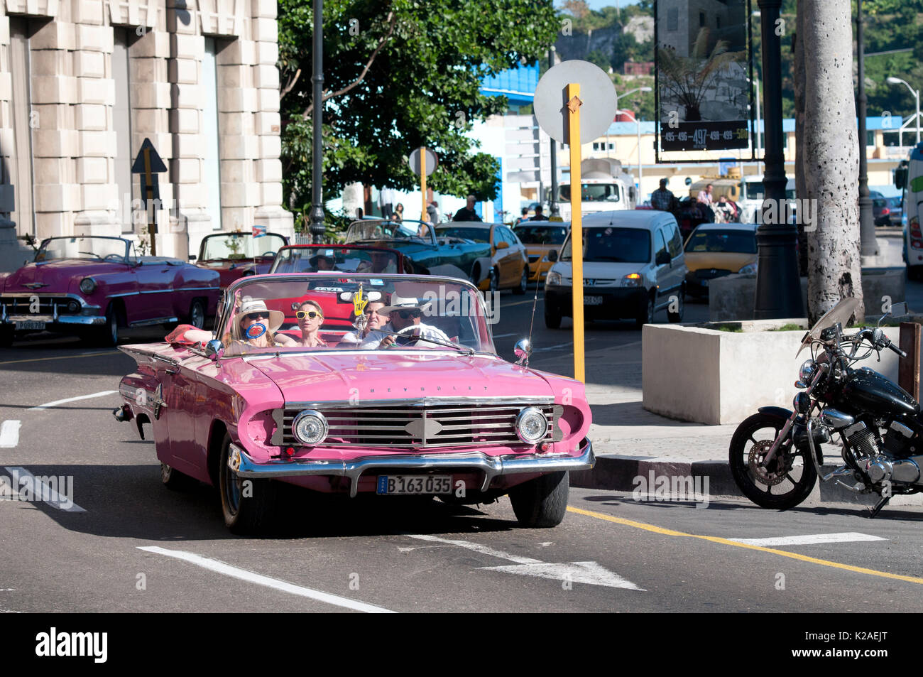 1960 Chevrolet convertible taxi in Havana Cuba - Stock Image