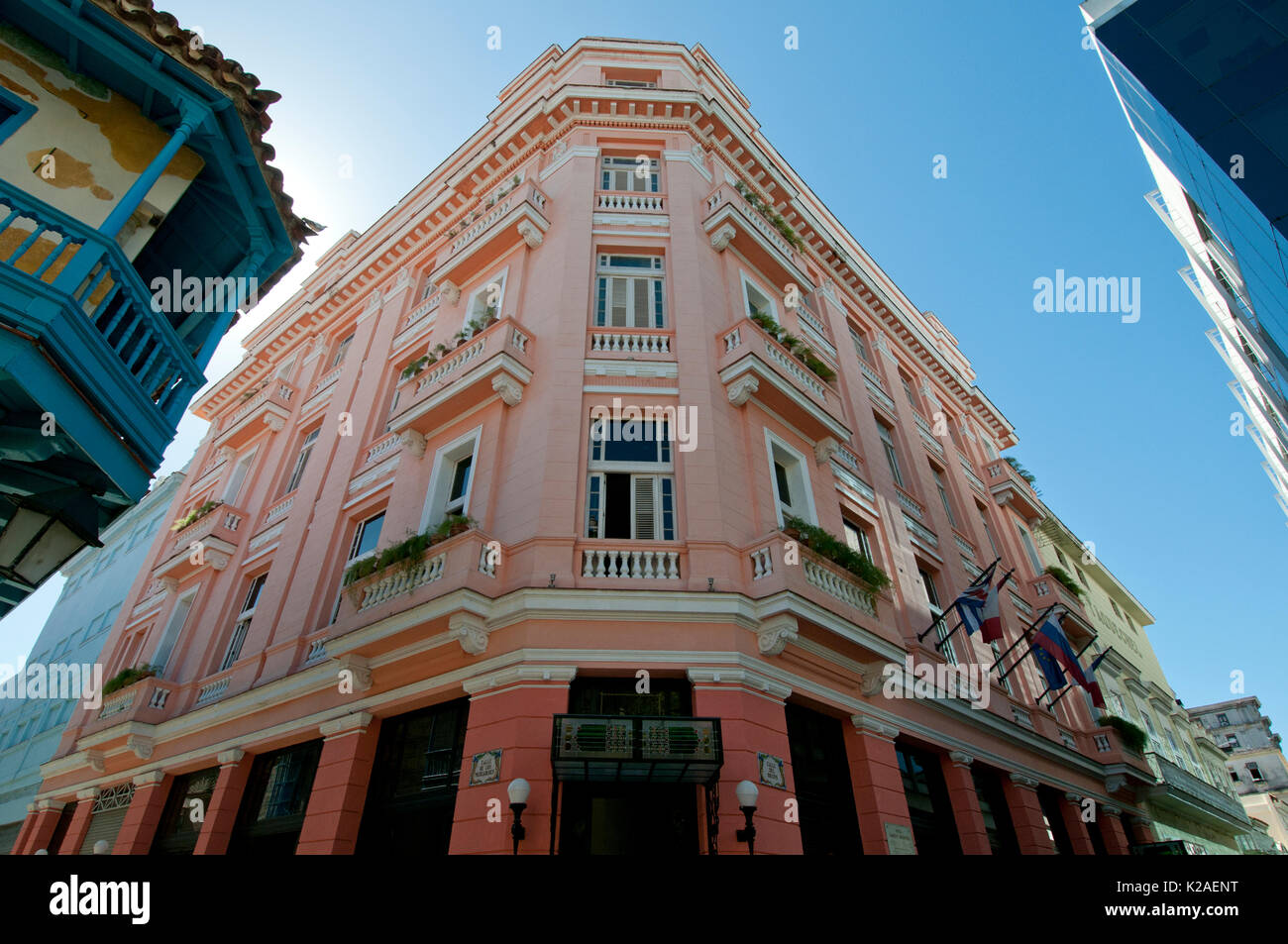 Hotel Ambos Mundos in Havana Cuba where Ernest Heminway lived from 1932 to 1939 - Stock Image