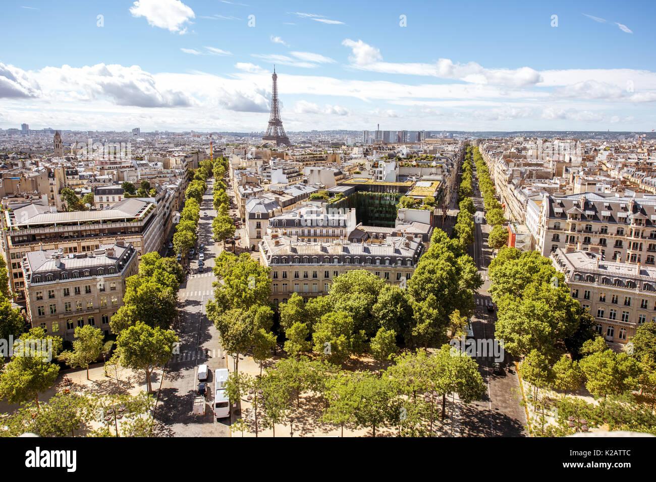 Cityscape view of Paris - Stock Image