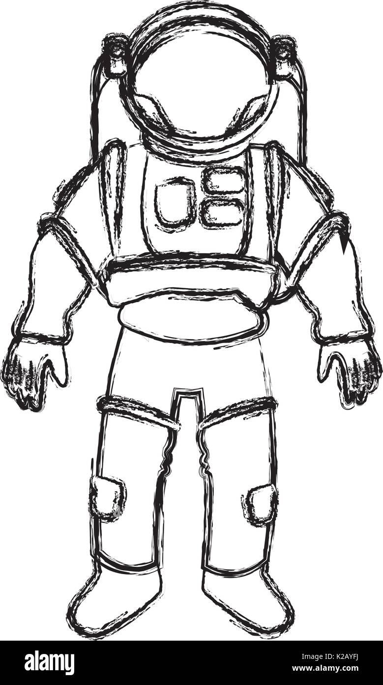 space suit helmet protective for astronaut Stock Vector Art