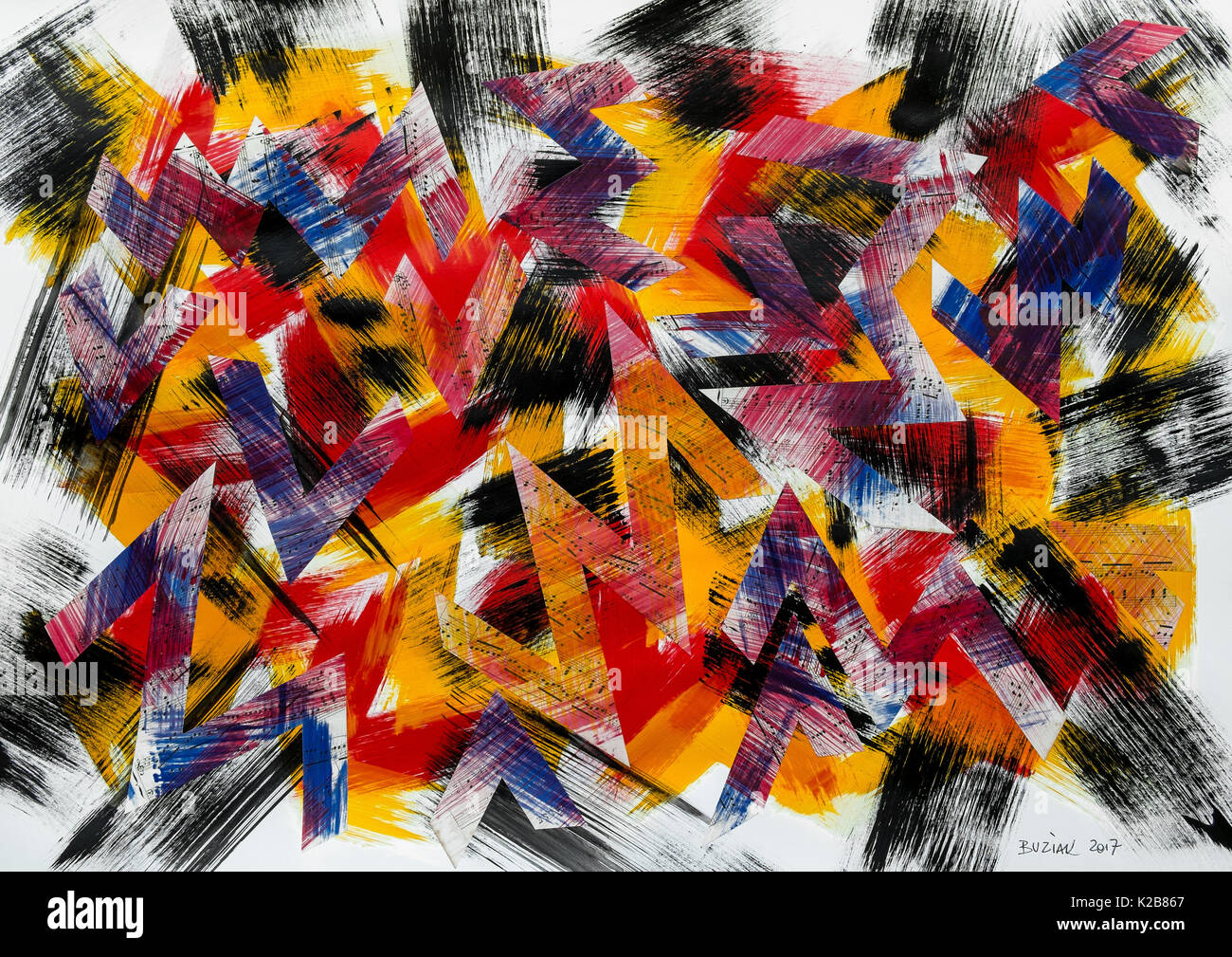 'Pop Camouflage' - abstract artwork by Ed Buziak. - Stock Image