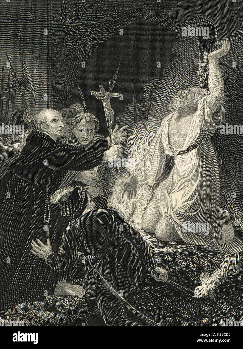 The Martyrdom of Archbishop Cranmer, 21 March 1556 - Stock Image