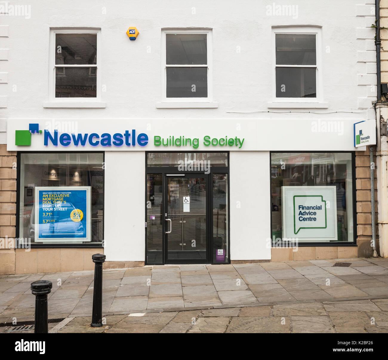 Newcastle Building Society in Darlington,England,UK - Stock Image