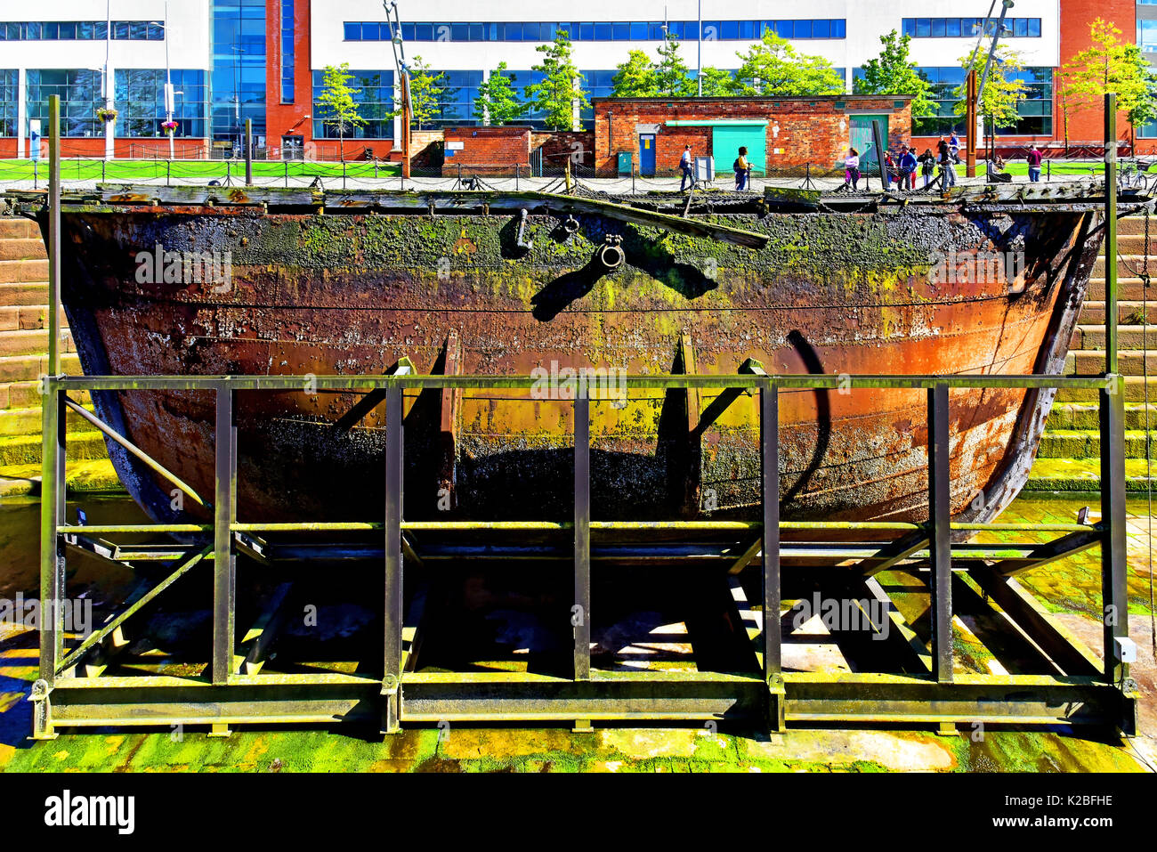 Belfast Northern Ireland Titanic Museum Hamilton dock Caisson - Stock Image