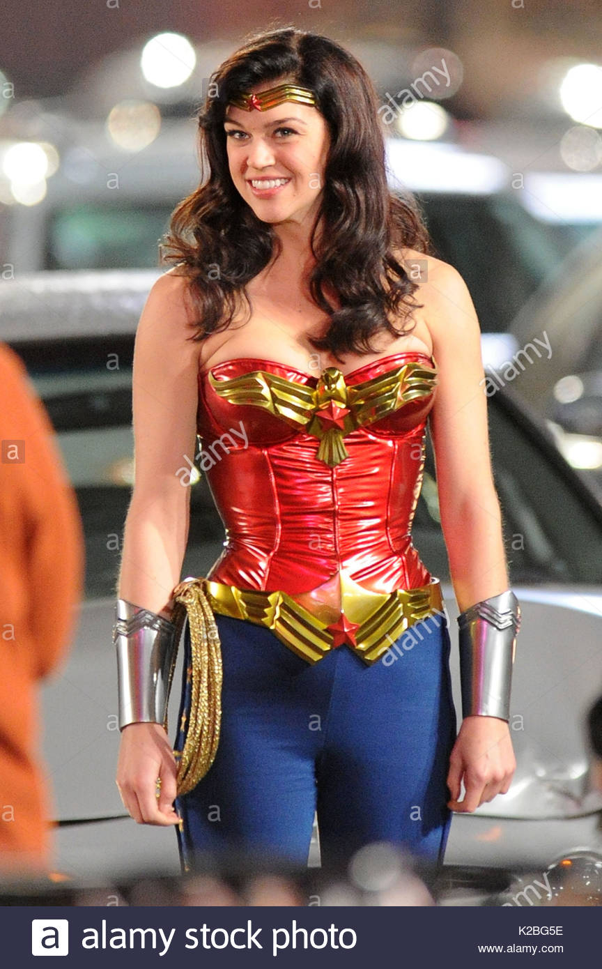 Adrianne Palicki shuts down Hollywood Boulevard as the new u0027Wonder Womanu0027. The actress donned a tight red and blue outfit for action scenes filmed through ...  sc 1 st  Alamy & Adrianne Palicki. Adrianne Palicki shuts down Hollywood Boulevard as ...