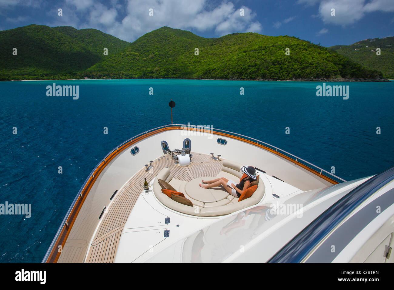 Watershed, 87-foot President Yacht, Saint John, U.S. Virgin Islands, May 2012. - Stock Image