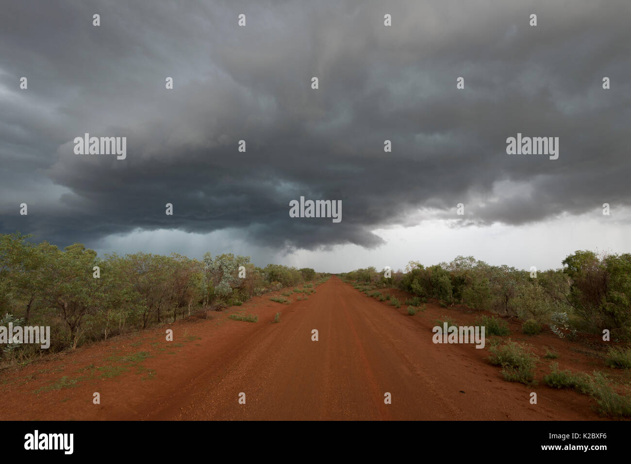 Tablelands Highway in the outback, Northern Territory, Australia. January 2013 - Stock Image