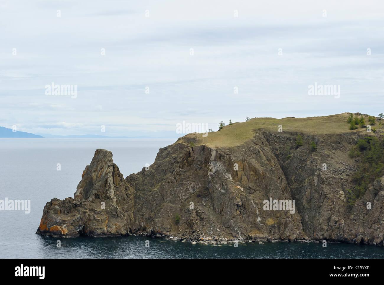 Cape Hoboy cliffs, Olkhon island, Lake Baikal, Russia, June 2014. - Stock Image