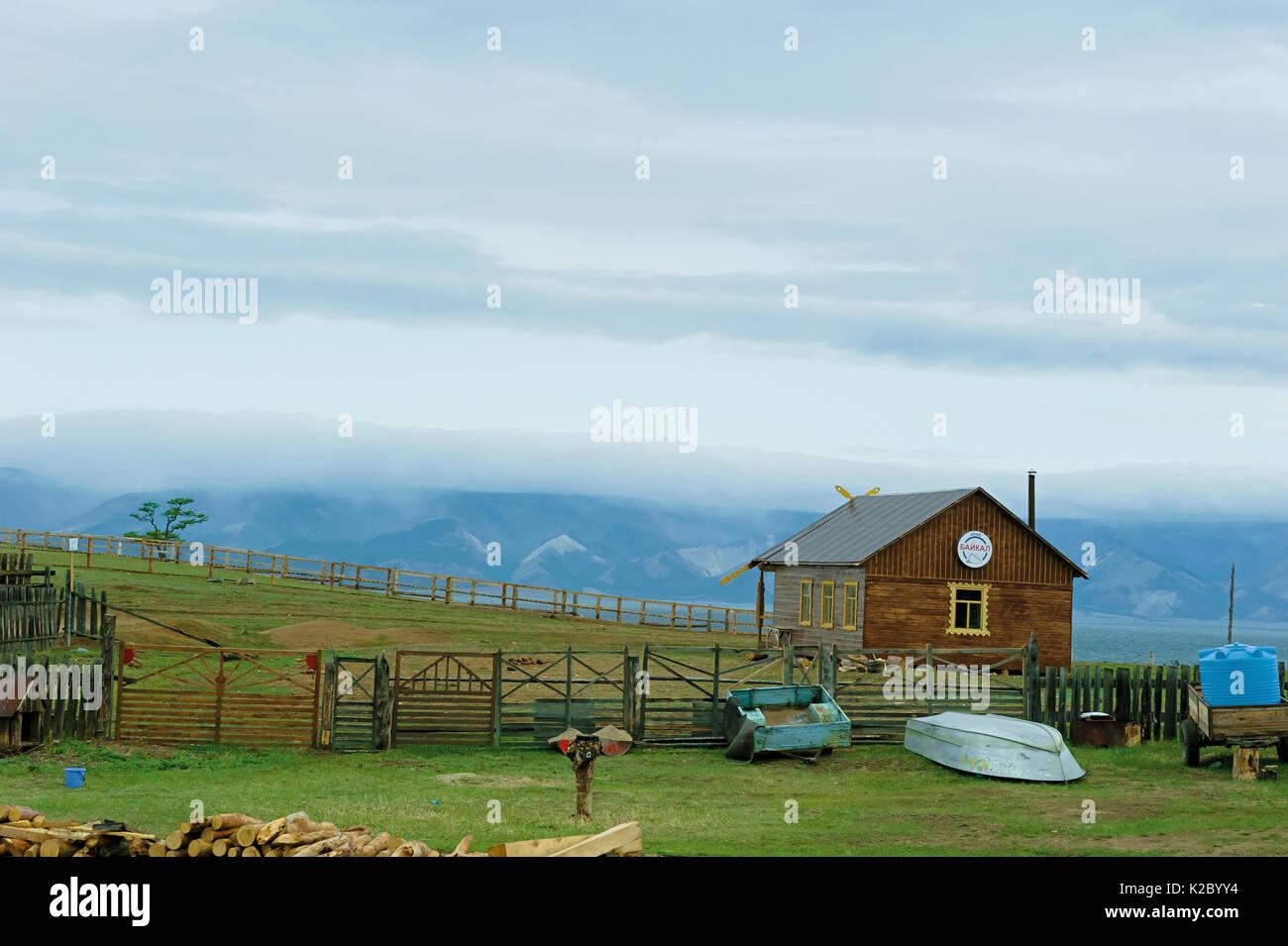 Huzhir village, Olkhon island, Lake Baikal, Russia, June 2014. - Stock Image