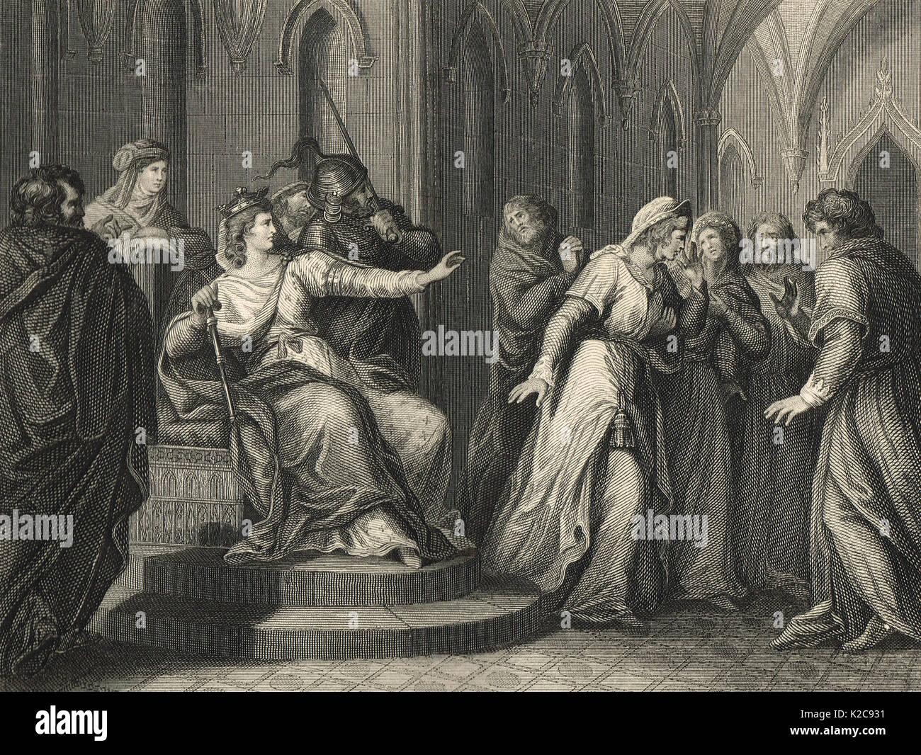 Empress Matilda refusing to release Stephen of Blois - Stock Image