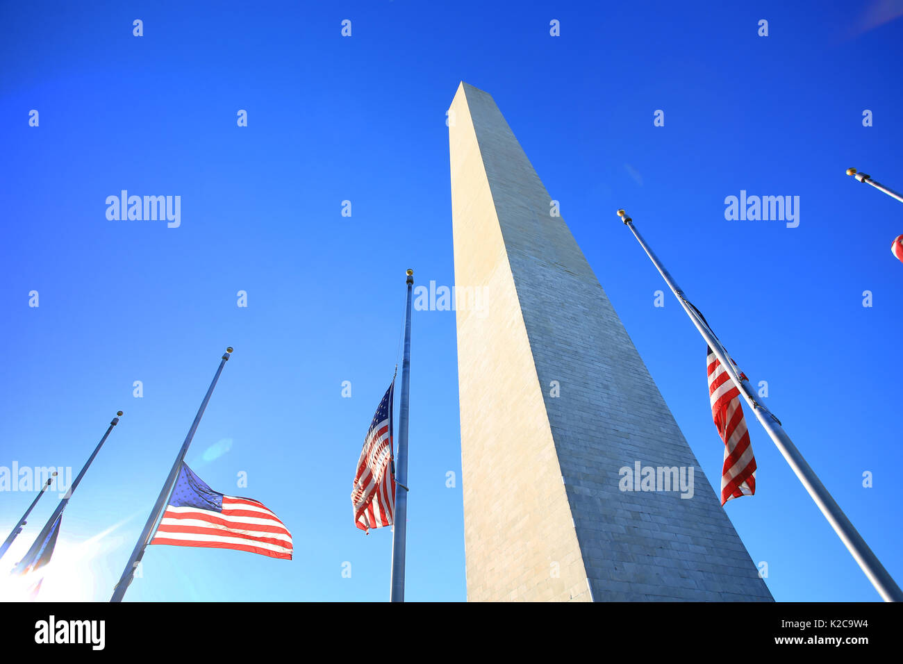 Washington monument in washington - Stock Image