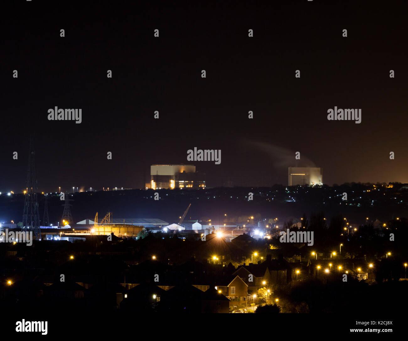 Heysham nuclear power stations, Lancashire Stock Photo