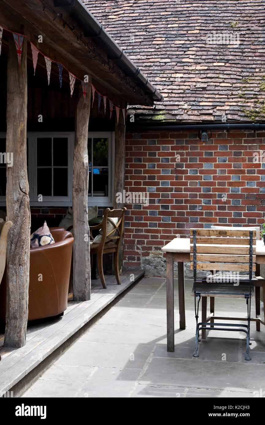 Kentish pub garden - Stock Image