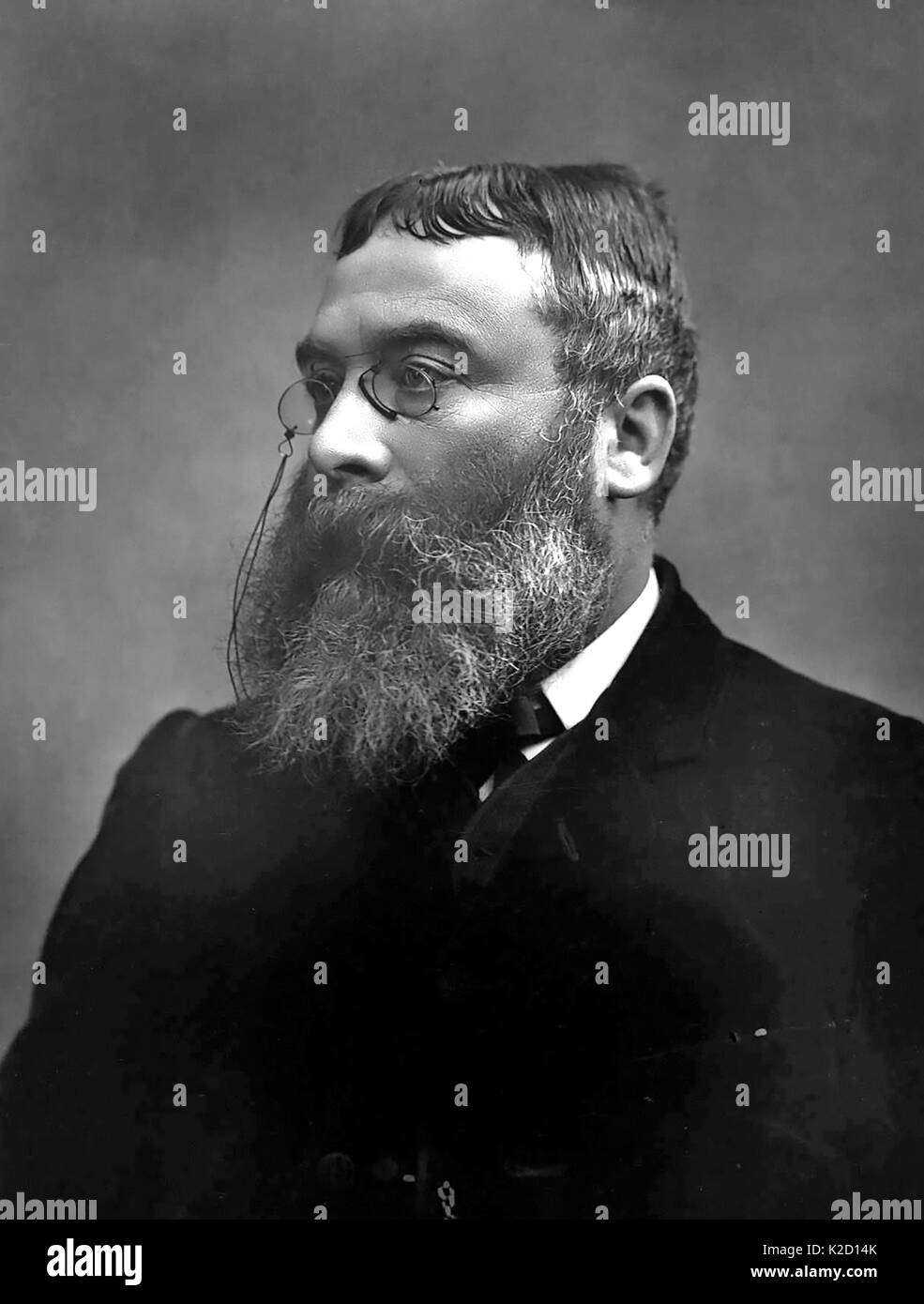 WALTER BESANT (1836-1901) English historian and novelist - Stock Image